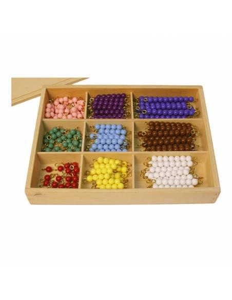 Caja de perlas de madera (20 uds)  Contar del 0 al 100