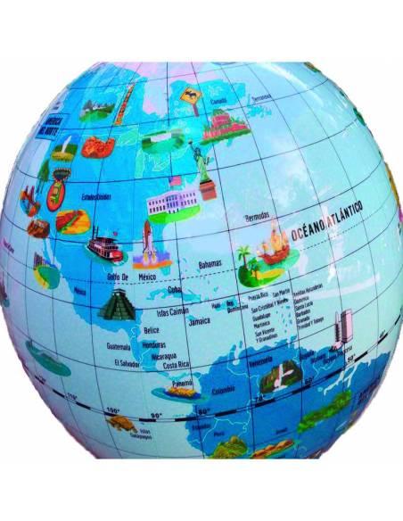 Globo terráqueo Maravillas del Mundo 42 cm  Mapas y Globos Terráqueos