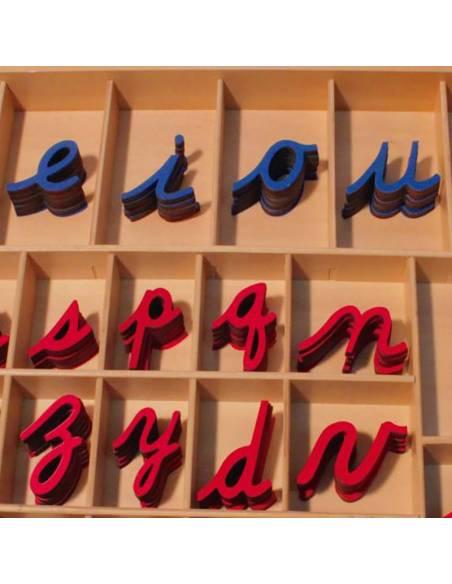 aprende palabras con el abecedario de madera