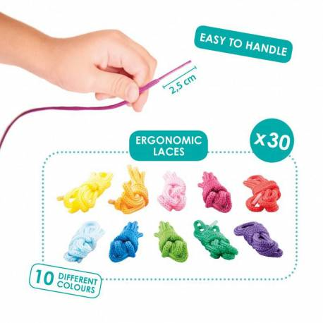 Set de cordones ergonómicos para coser y enlazar (30 uds)