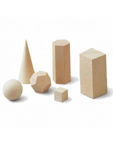 Cuerpos geométricos de madera  Geometría