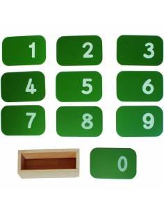 Números de lija horizontales