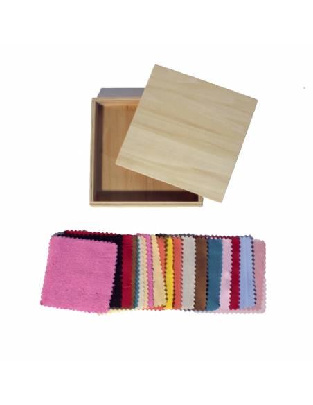 Caja de telas montessori