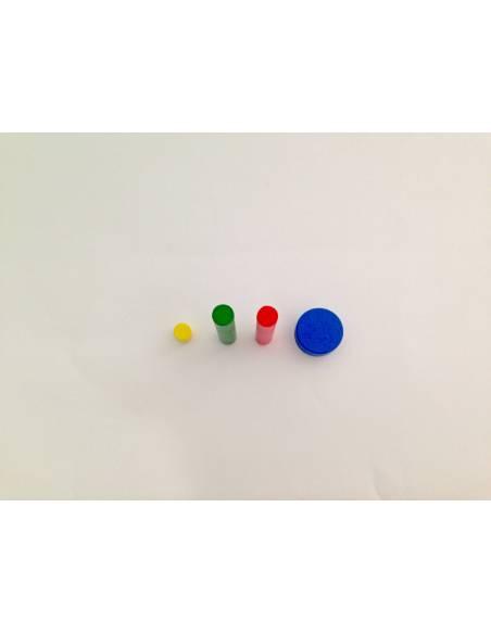 Repuesto Cilindro Sin Botón AZUL  Perlas y Repuestos
