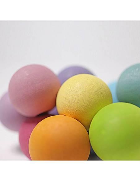 Pulsera de bolas arcoiris tonos pastel  Bebés