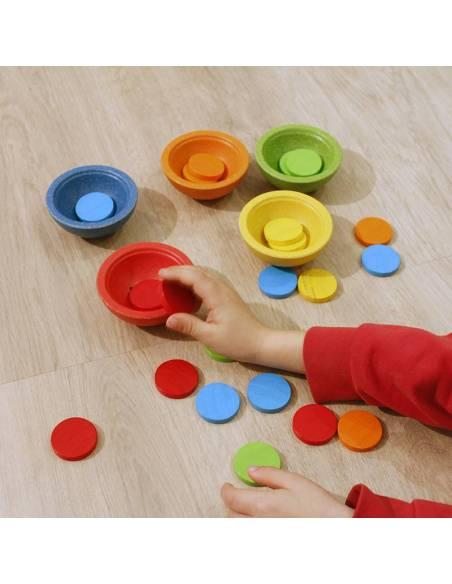 Tazas ordena y cuenta  De 1 a 3 años