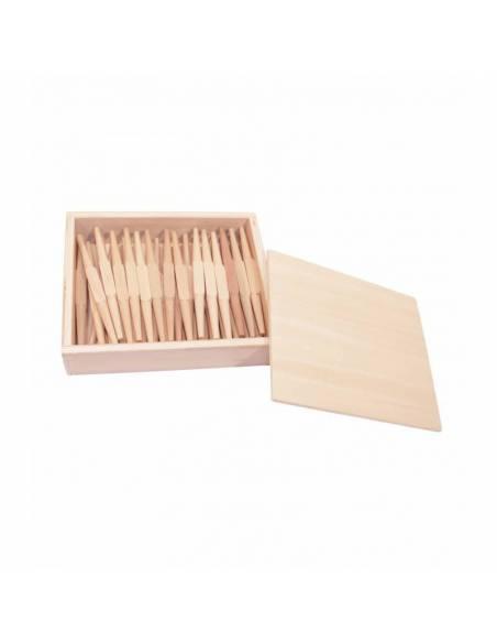 45 husos en caja de madera  Contar del 0 al 100