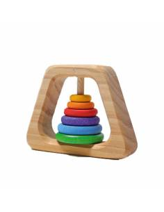 Sonajero de madera Pirámide
