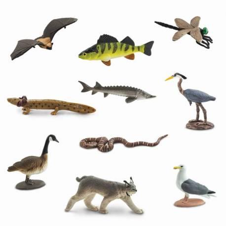 animales que habitan en grandes lagos