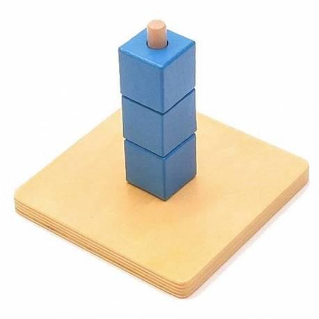 Apilador cubos vertical azul
