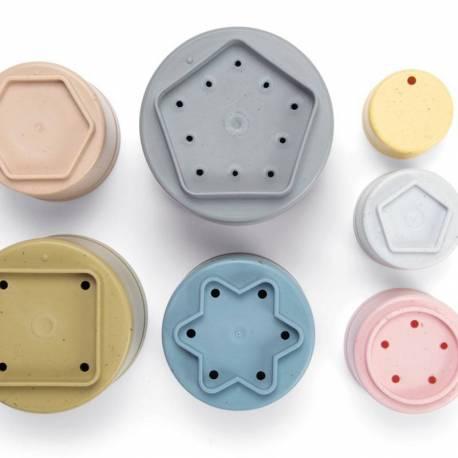 Cubos apilables BIO sostenibles y reciclables
