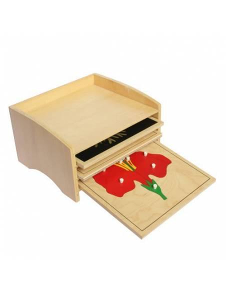 Módulo de madera para tres puzzles