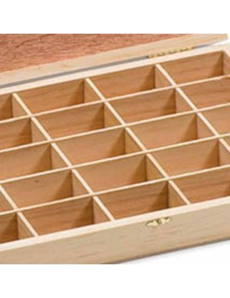 Caja madera con 25 compartimentos  Ambiente y Mobiliario