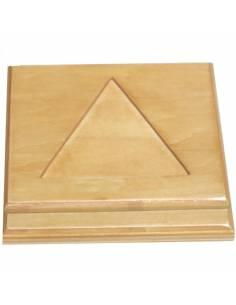 Base de madera para escalera de perlas