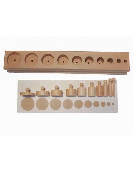 Tarjetas cilindros con botón