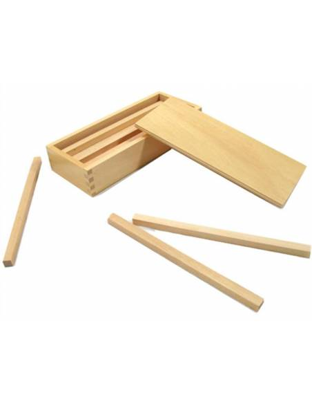 Prismas para la escalera marrón  Sensorial Montessori
