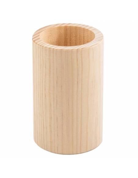Bote en madera para lápices  Papelería