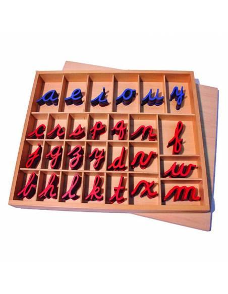 Abecedario alfabeto móvil en cursiva