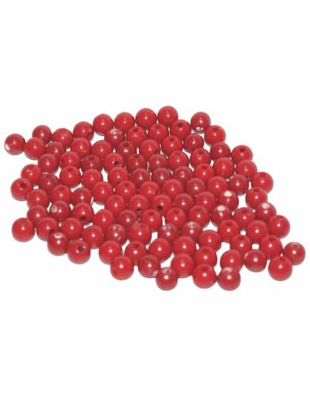 Cuentas de plástico color rojas (100 uds)  Operaciones Abstractas