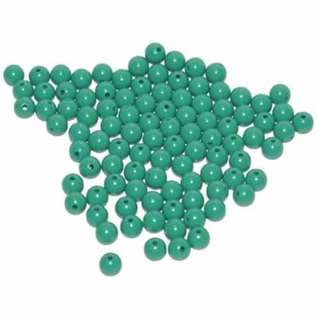 Cuentas de plástico color verdes (100 uds)