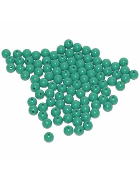 Cuentas de plástico color verdes (100 uds)  Perlas y Repuestos