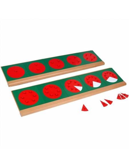 Fracciones en metal con bandeja  Geometría y Álgebra
