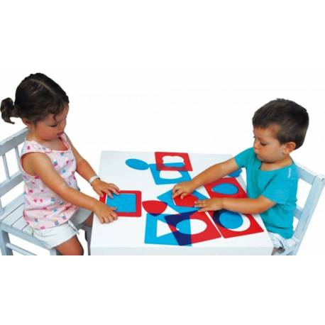 Formas geométricas translúcidas Montessori mesa de luz de HenBea