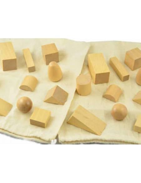 Bolsa Montessori juego del sentido estereognóstico