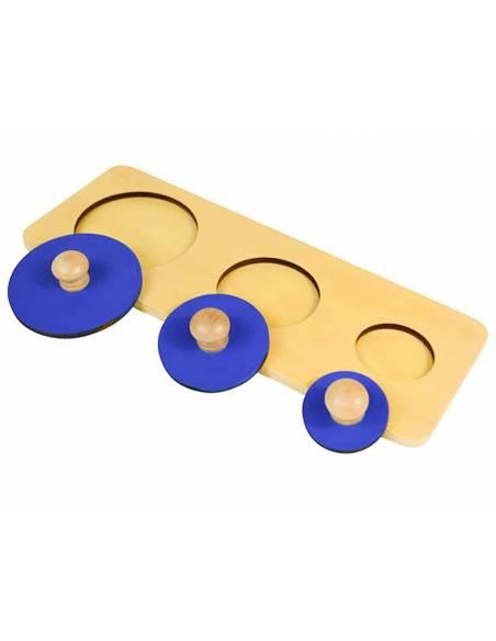Puzzle tres círculos  Primeros puzles
