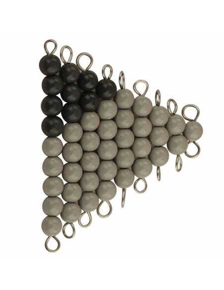 Perlas Serpiente gris y negra  Perlas y Repuestos