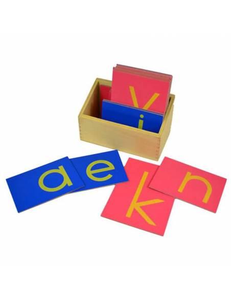 Letras de lija minúsculas IMPRENTA con caja