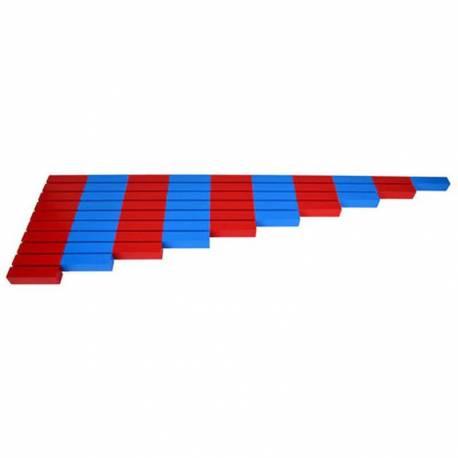 Barras rojas y azules PREMIUM  Contar del 0 al 100
