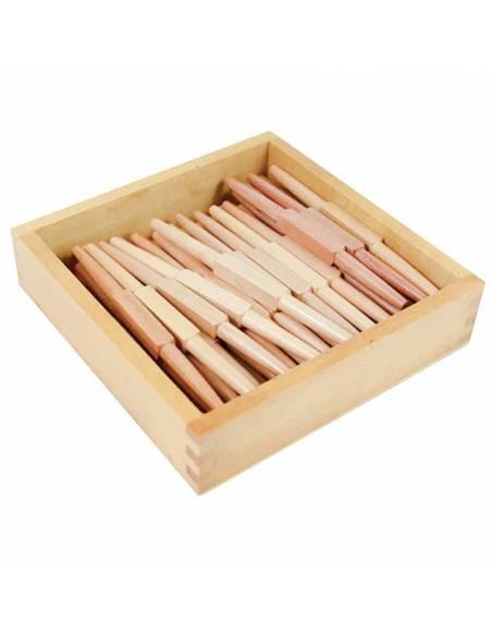 45 husos en caja de madera