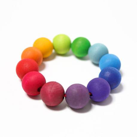 Pulsera de cuentas arcoiris