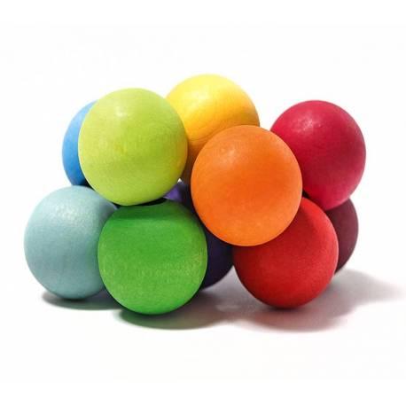 Pulsera de bolas arcoiris