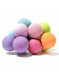 Pulsera de bolas arcoiris tonos pastel