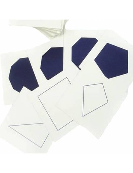Tarjetas para Gabinete Geométrico  Material Montessori