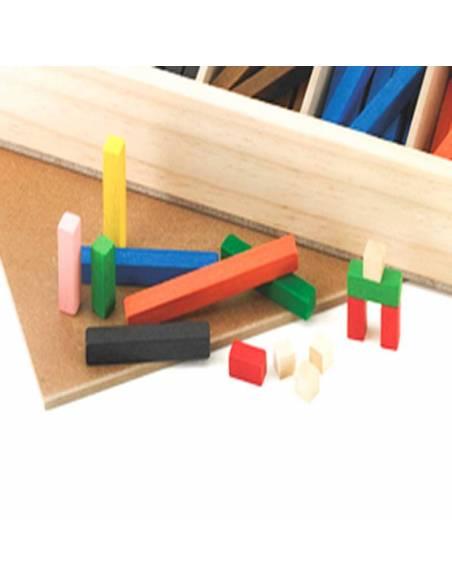 300 regletas en madera 1x1 cm  Regletas