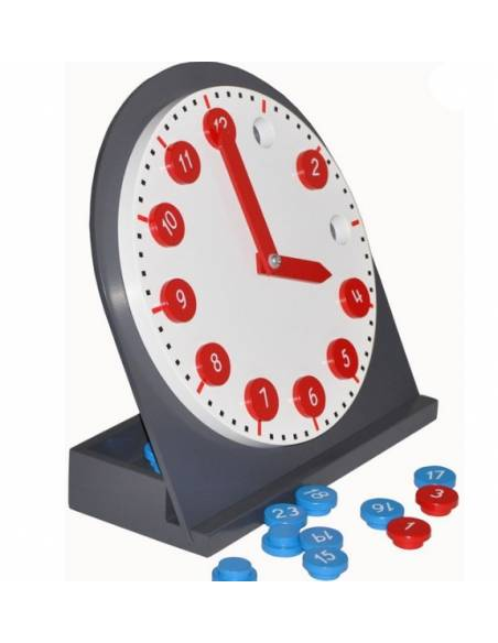 Reloj montessori en madera  Medidas y Tiempo