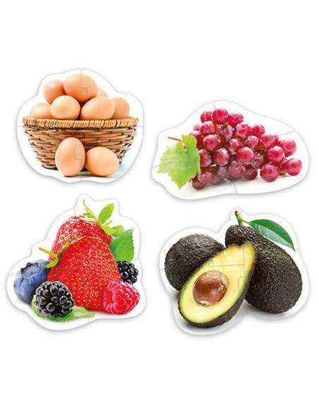 Maxi puzzles alimentos sanos  De 1 a 3 años