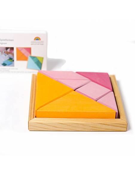 Tangram Rosa-Naranja  Puzzles y construcciones