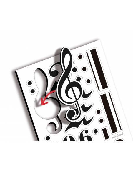 Pizarra Musical y Notas Magnéticas  Música