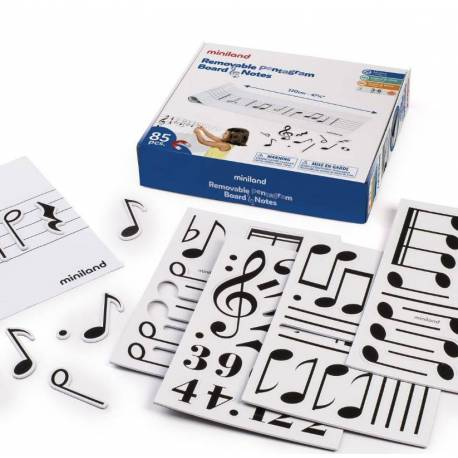 MINILAND pizarra musical magnetica para lenguaje musical