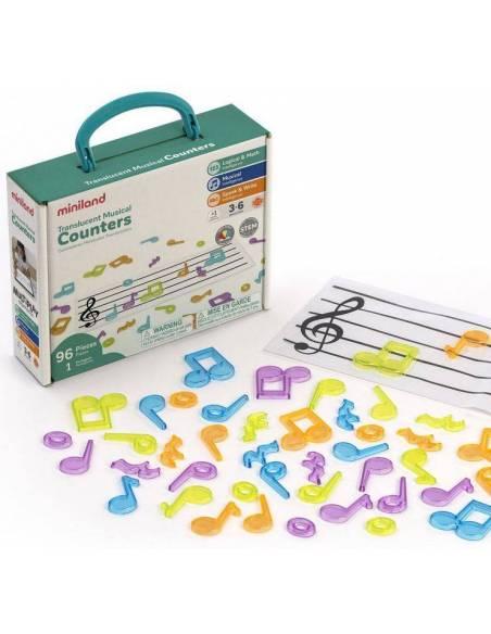 Pentagrama y Notas Musicales para mesa de luz  Música