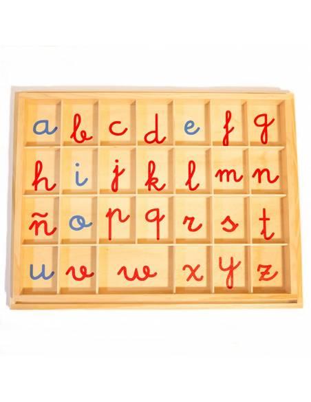 Abecedario móvil letra ligada con Ñ  Lenguaje Montessori