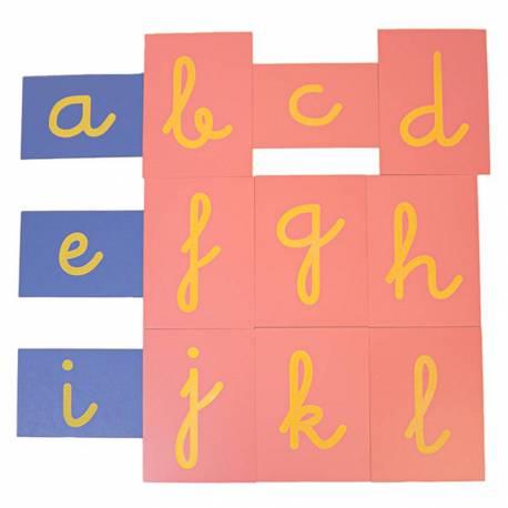 Letras de lija ligada con Ñ  Lenguaje Montessori