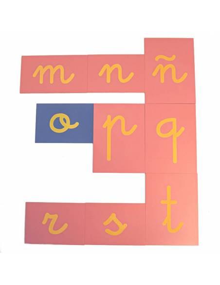 Letras de lija ligada con Ñ  Lenguaje