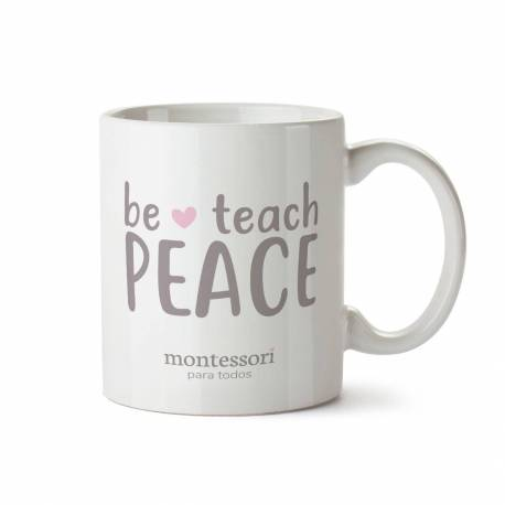Taza Montessori Be peace  Regalos Montessori