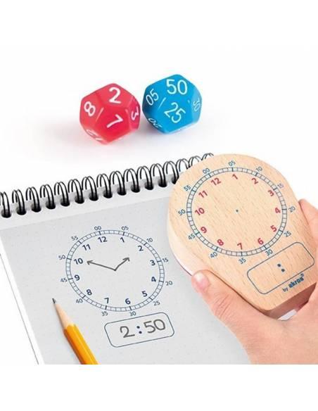 Reloj Maxi-sello ¿Qué hora es?  Tiempo