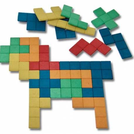 Set de Pentominós en 5 Colores - 60 piezas  Razonamiento lógico